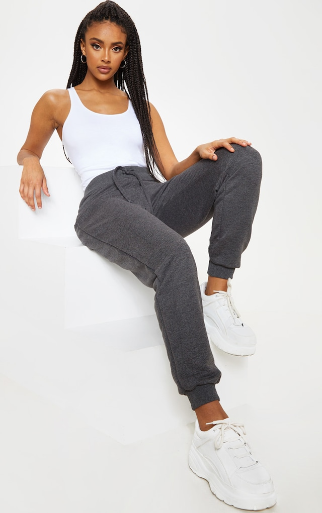 Charcoal Ultimate Jogger by Pretty Little Thing, available on prettylittlething.com for $11 Jenna Dewan Pants SIMILAR PRODUCT