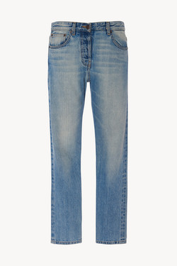 Ashland Jean in Selvedge Denim  Blue by The Row, available on therow.com for $590 Kaia Gerber Pants SIMILAR PRODUCT