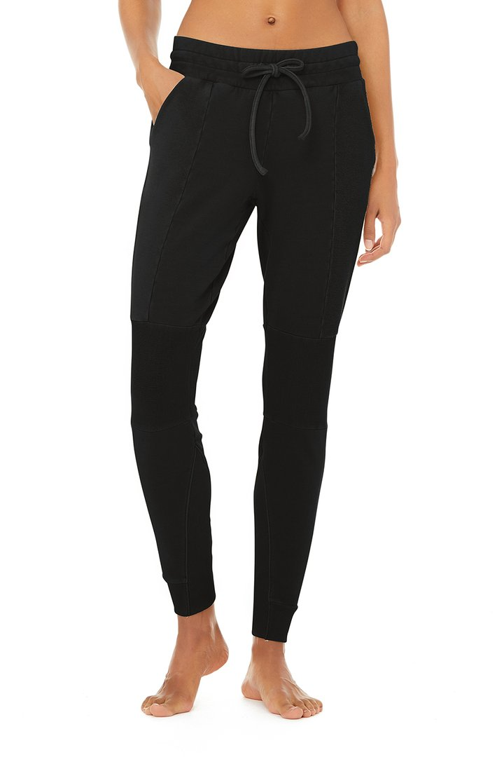 Avenue Sweatpant - Black by Alo Yoga, available on aloyoga.com for $118 Kaia Gerber Pants SIMILAR PRODUCT