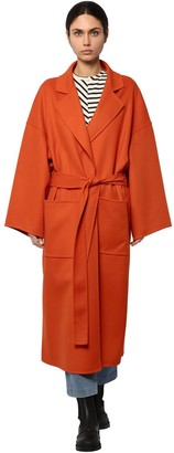 BELTED WOOL & CASHMERE CLOTH COAT by Loewe, available on shopstyle.com for $2120 Kaia Gerber Outerwear SIMILAR PRODUCT
