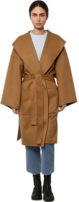 BELTED WOOL & CASHMERE CLOTH COAT by Loewe, available on shopstyle.com for $2900 Kaia Gerber Outerwear SIMILAR PRODUCT