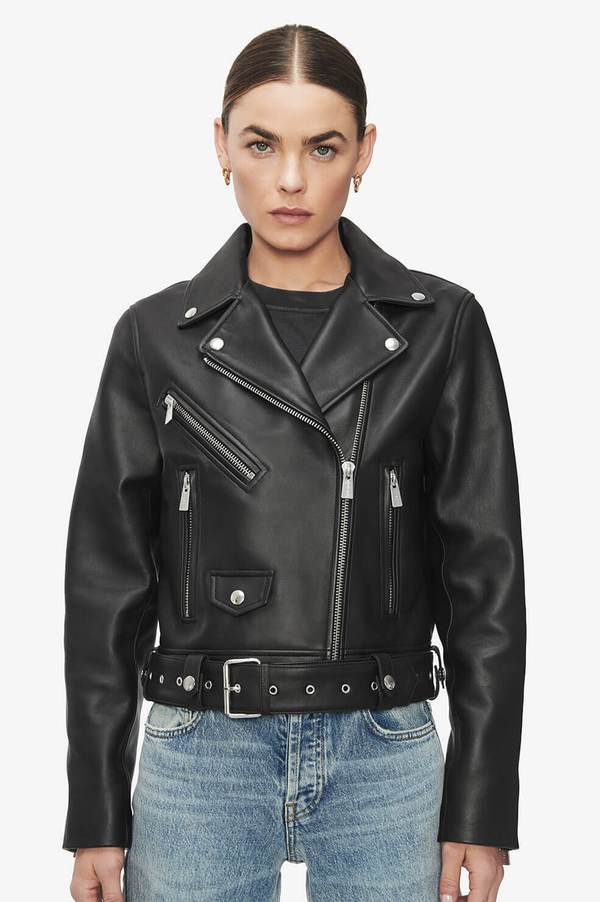 Benjamin Moto Jacket - Black by Anine Bing, available on aninebing.com for $1099 Kaia Gerber Outerwear SIMILAR PRODUCT