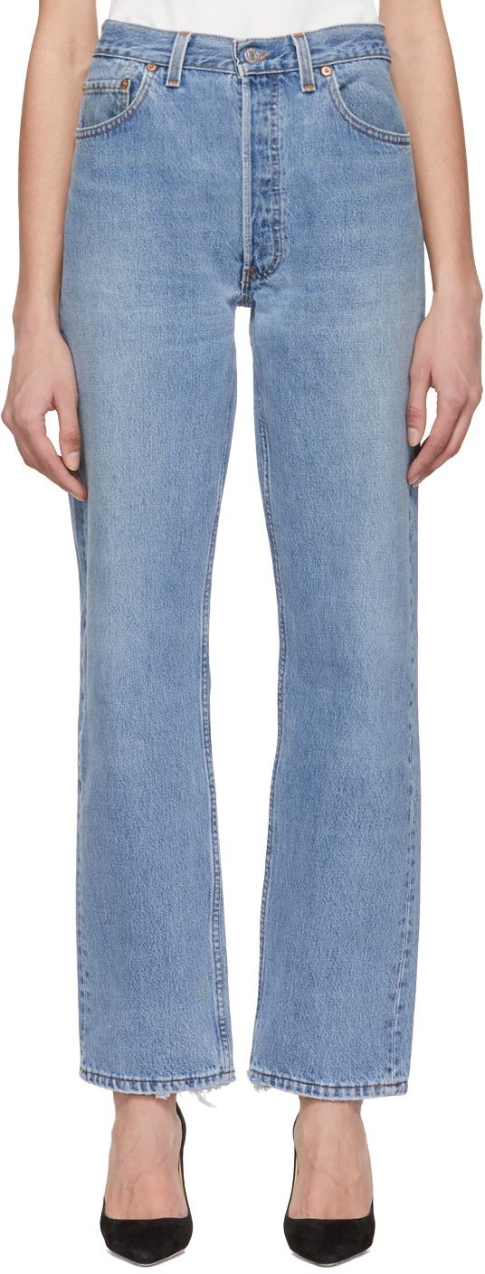 Blue Levi's Edition 90s Jeans by Re/Done, available on ssense.com for $350 Kaia Gerber Pants Exact Product