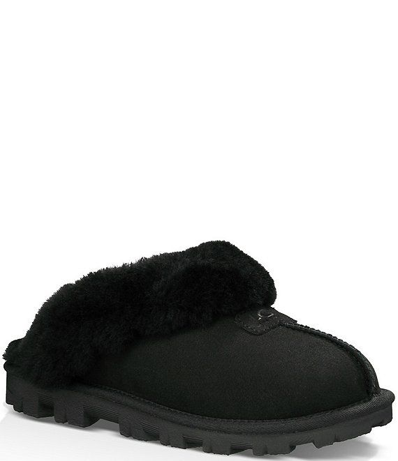 Coquette Suede Slippers by Ugg, available on dillards.com for $120 Kaia Gerber Shoes Exact Product
