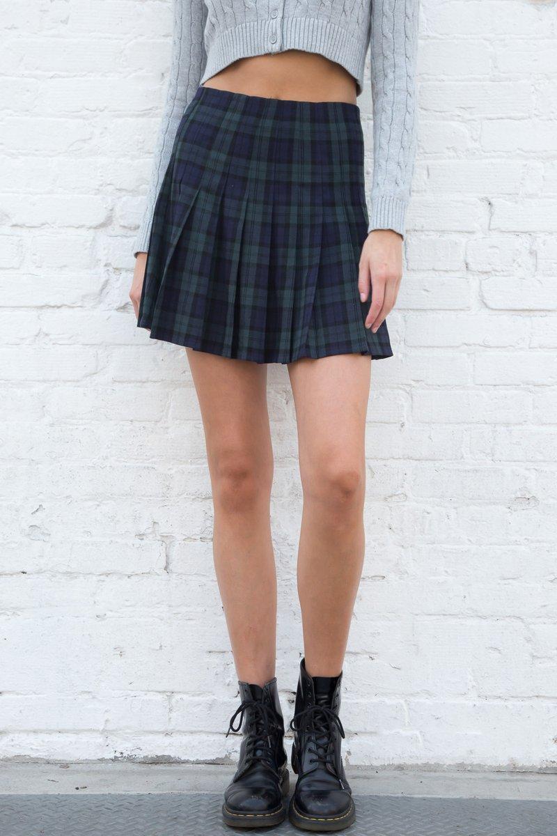 DANA PLAID SKIRT by Brandy Melville, available on brandymelville.com for $28 Kaia Gerber Skirt Exact Product
