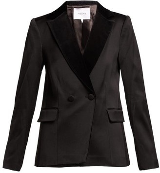 Double-breasted Tuxedo Jacket - Womens - Black by Frame, available on shopstyle.com for $312 Kaia Gerber Outerwear SIMILAR PRODUCT