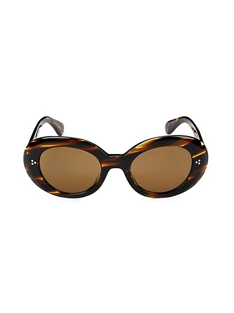 Errissa 52MM Oval Sunglasses by Oliver Peoples, available on saksoff5th.com for ₹8201 Kaia Gerber Sunglasses Exact Product