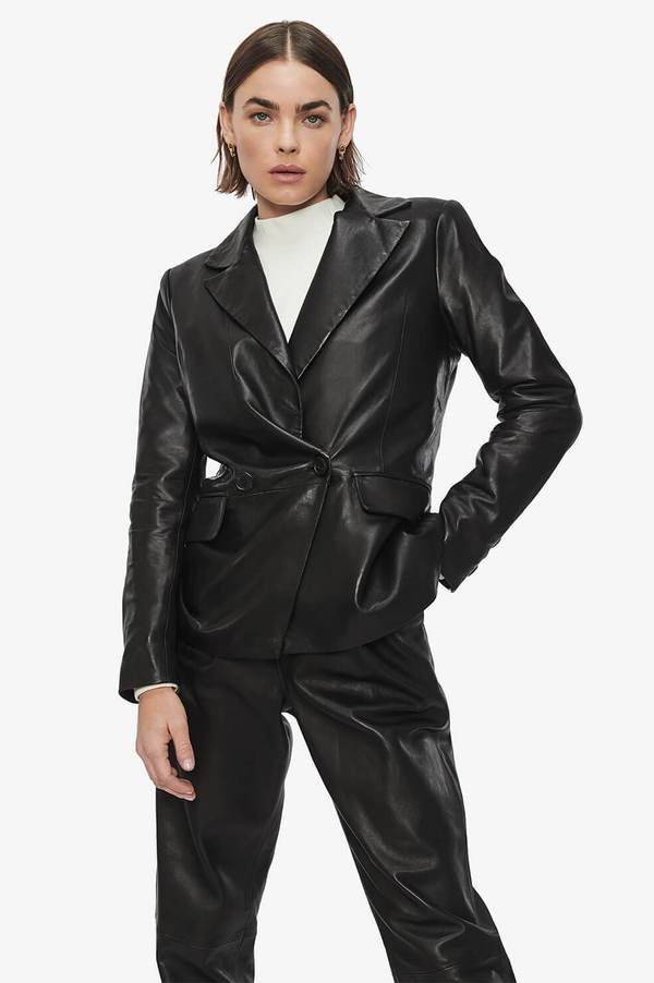 Grace Blazer - Black by Anine Bing, available on aninebing.com for $1199 Kaia Gerber Outerwear SIMILAR PRODUCT