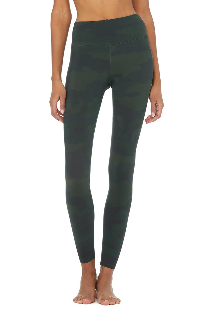 High-Waist Camo Vapor Legging by Alo Yoga, available on aloyoga.com for $128 Kaia Gerber Pants SIMILAR PRODUCT