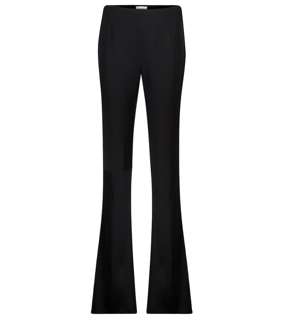 High-rise satin straight pants by Galvan, available on mytheresa.com for EUR559 Kaia Gerber Pants Exact Product