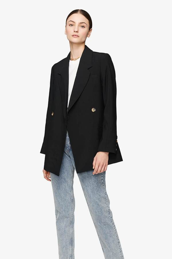 Kaia Blazer - Black by Anine Bing, available on aninebing.com for $349 Kaia Gerber Outerwear SIMILAR PRODUCT