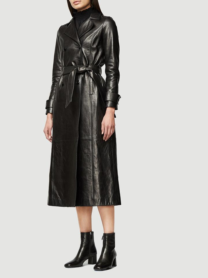 Leather Trench by Frame, available on frame-store.com for $2495 Kaia Gerber Outerwear Exact Product