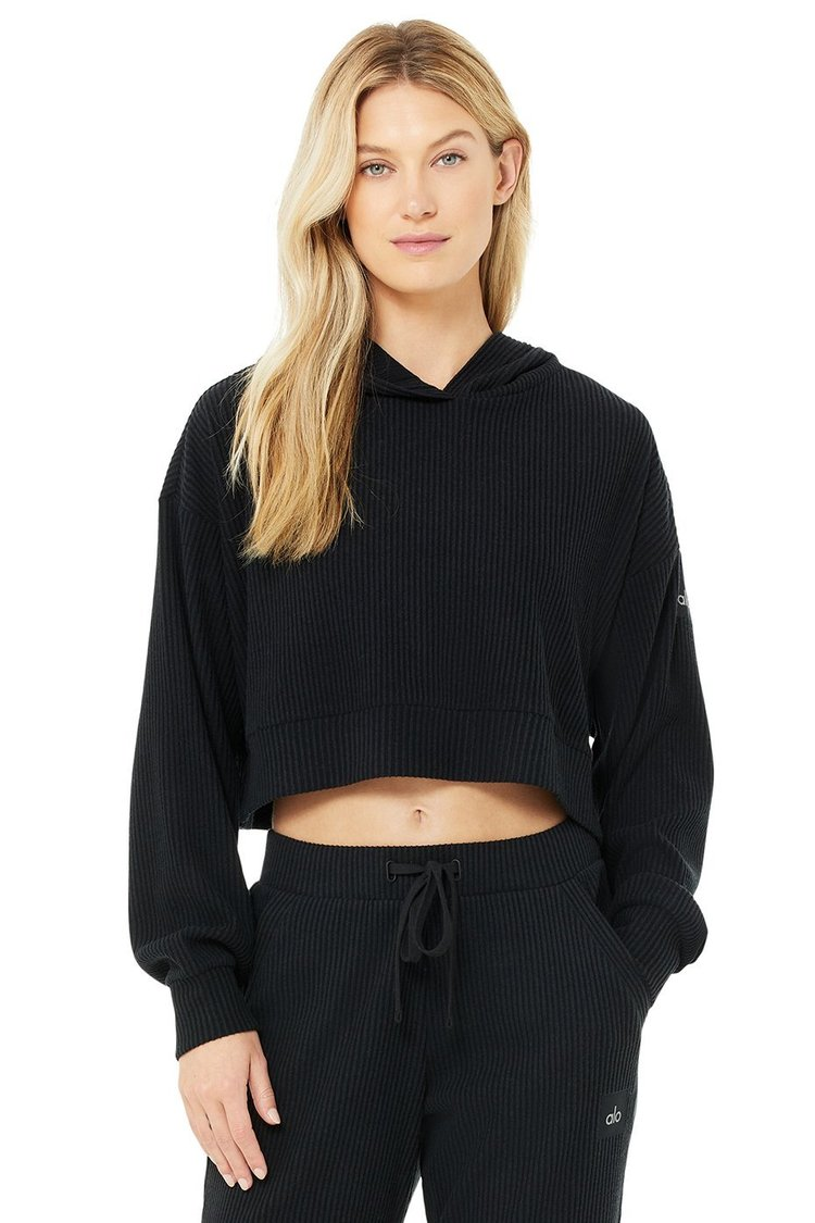 MUSE HOODIE by Alo, available on aloyoga.com for $88 Kaia Gerber Top Exact Product