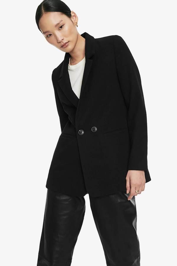 Madeleine Blazer - Black by Anine Bing, available on aninebing.com for $349 Kaia Gerber Outerwear SIMILAR PRODUCT