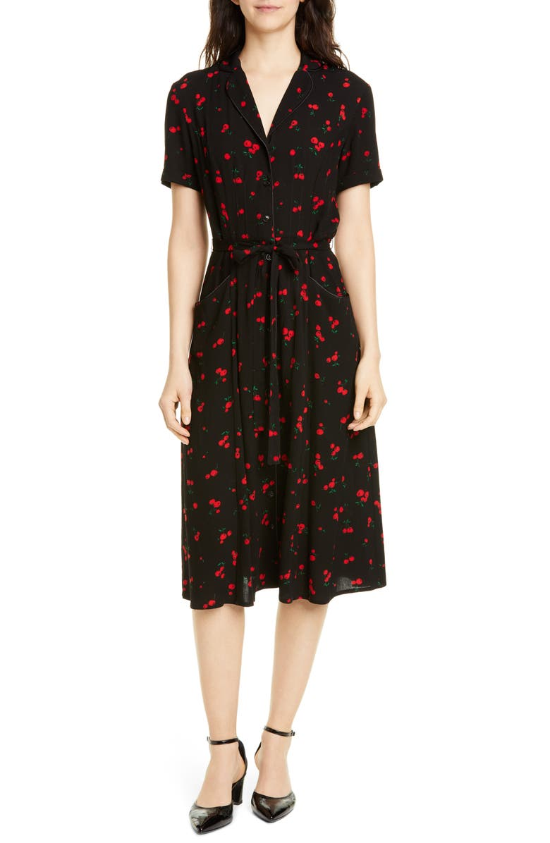 Maria Cherry Print Shirtdress by HVN, available on nordstrom.com Kaia Gerber Dress Exact Product