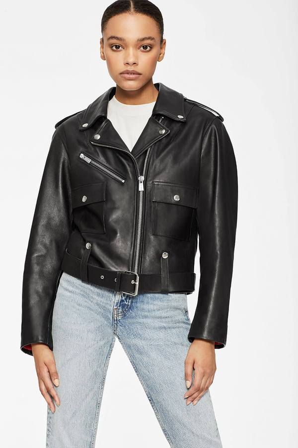 Maverick Jacket - Black by Anine Bing, available on aninebing.com for $1199 Kaia Gerber Outerwear SIMILAR PRODUCT