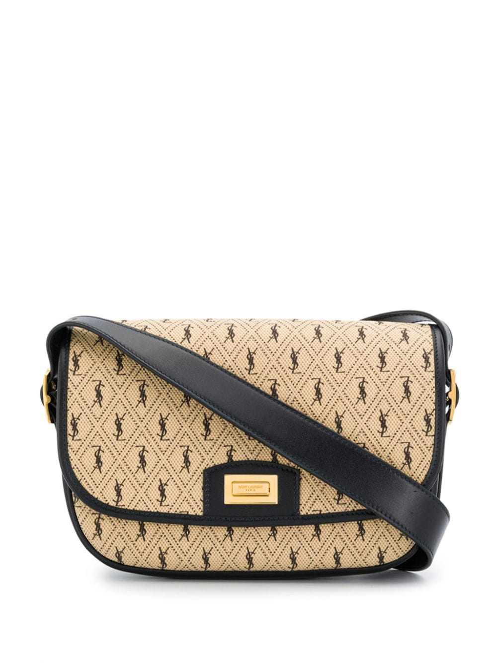 Monogram all over canvas satchel bag by Saint Laurent, available on farfetch.com for $1555 Kaia Gerber Bags Exact Product