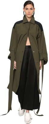 OVERSIZED NYLON CANVAS TRENCH COAT by Loewe, available on shopstyle.com for $2900 Kaia Gerber Outerwear SIMILAR PRODUCT