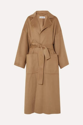 Oversized Belted Wool And Cashmere-blend Coat - Camel by Loewe, available on shopstyle.com for $1554 Kaia Gerber Outerwear Exact Product