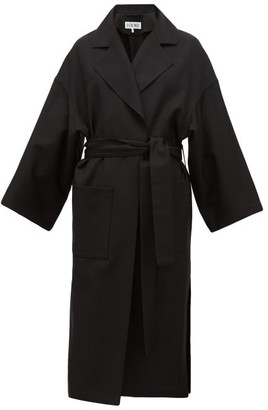 Oversized Belted Wool Coat - Womens - Black by Loewe, available on shopstyle.com for $2650 Kaia Gerber Outerwear SIMILAR PRODUCT