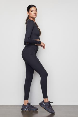 THE WARRIOR ZIP 7/8 LEGGING | BLACK001 by Good American, available on goodamerican.com for $125 Kaia Gerber Pants SIMILAR PRODUCT