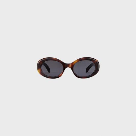 TRIOMPHE 01 SUNGLASSES IN ACETATE BLONDE HAVANA by Celine, available on celine.com Kaia Gerber Sunglasses Exact Product