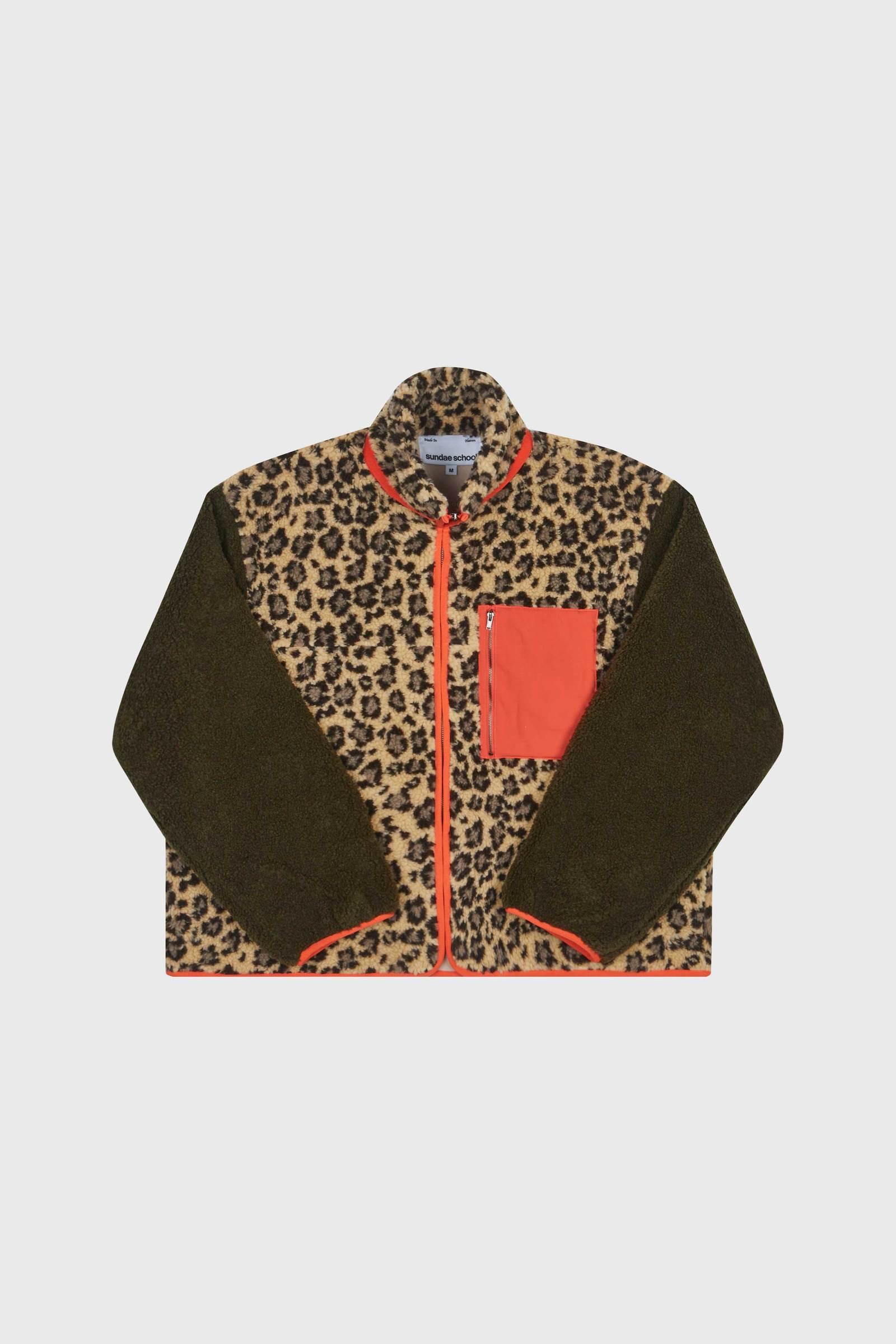 Tiger Mom Leopard Fleece Zip Up by Sundae School, available on sundae.school for $255 Kaia Gerber Outerwear Exact Product