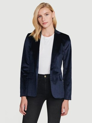 Velvet Classic Blazer by Frame, available on shopstyle.com for $288 Kaia Gerber Outerwear SIMILAR PRODUCT