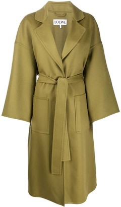 belted oversized coat by Loewe, available on shopstyle.com for $2463 Kaia Gerber Outerwear Exact Product