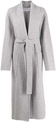 long belted coat by Loewe, available on shopstyle.com for $2700 Kaia Gerber Outerwear SIMILAR PRODUCT