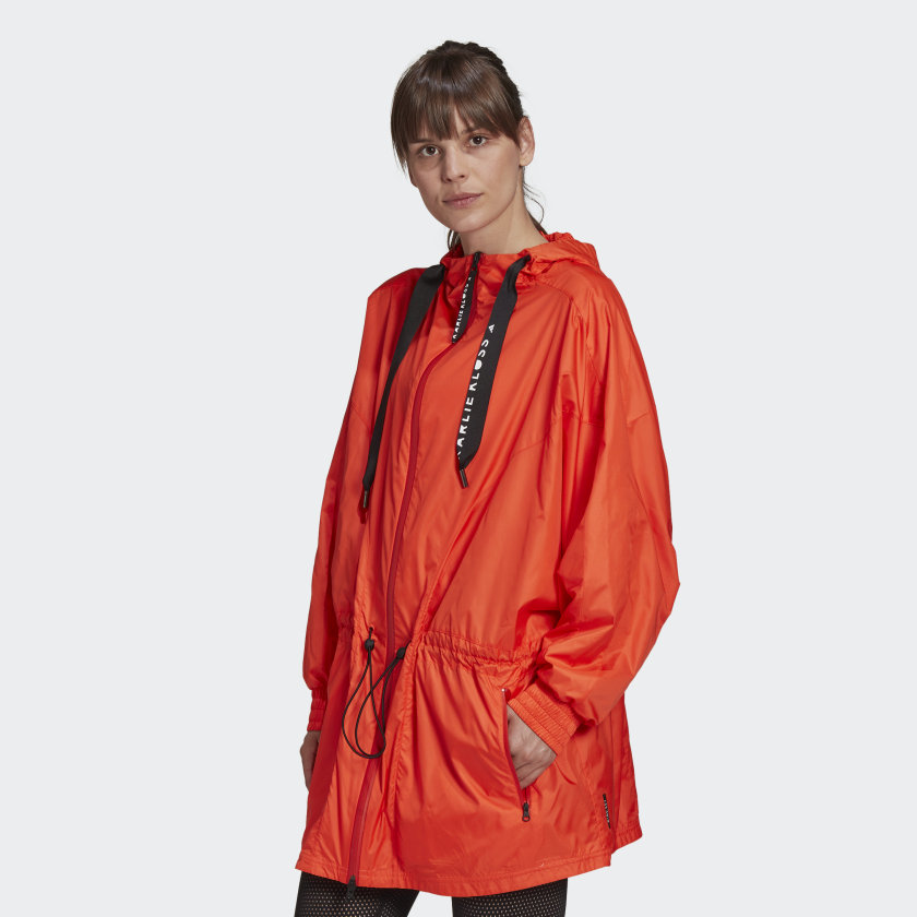 KARLIE KLOSS WIND.RDY PARKA by Adidas, available on adidas.com for $120 Karlie Kloss Outerwear Exact Product