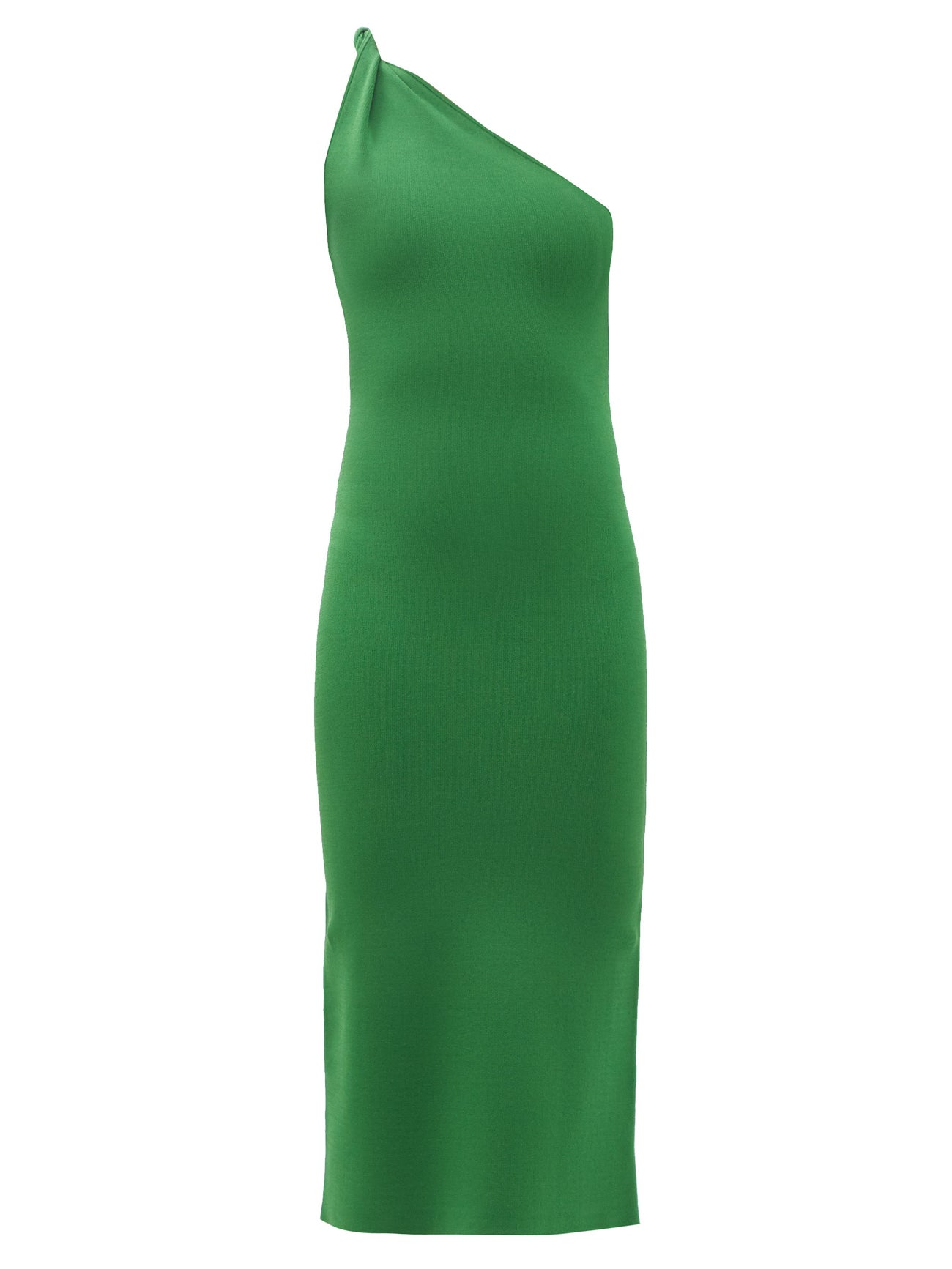 Persephone one-shoulder knitted dress by GALVAN, available on matchesfashion.com for EUR437 Karlie Kloss Dress Exact Product