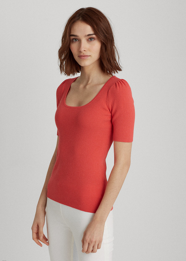 Cotton-Blend Puff-Sleeve Top by Ralph Lauren, available on shopstyle.com for $79.5 Kate Middleton Top Exact Product