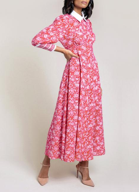Floral Shirt Dress by BEULAH, available on beulahlondon.com for $708.79 Kate Middleton Dress Exact Product