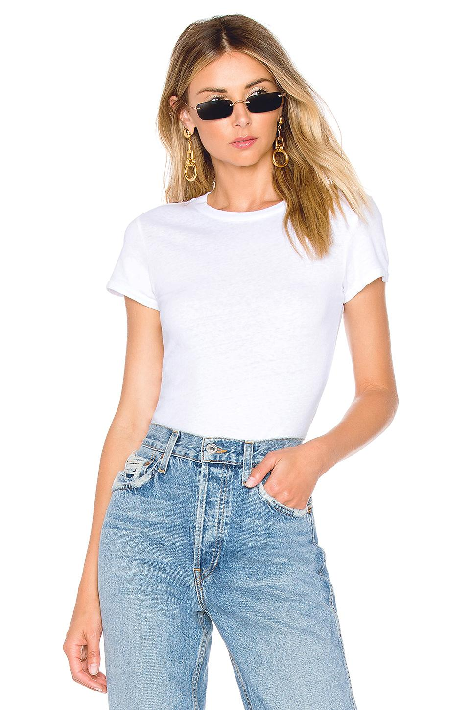 1960's Slim Tee Bodysuit by Re Done, available on revolve.com for $95 Kendall Jenner Top Exact Product