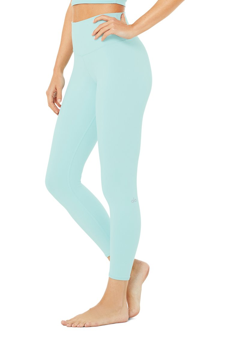 7/8 HIGH-WAIST AIRBRUSH LEGGING by Alo Yoga, available on aloyoga.com for $78 Kendall Jenner Pants Exact Product