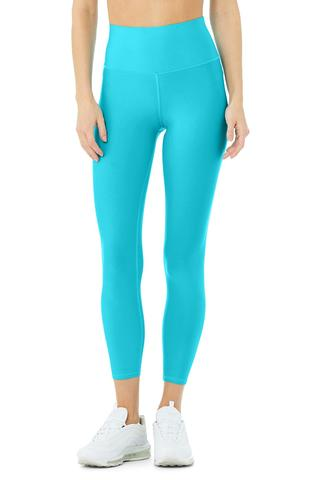 7/8 High-Waist Airlift Legging - Bright Aqua by Alo Yoga, available on aloyoga.com for $114 Kendall Jenner Pants SIMILAR PRODUCT