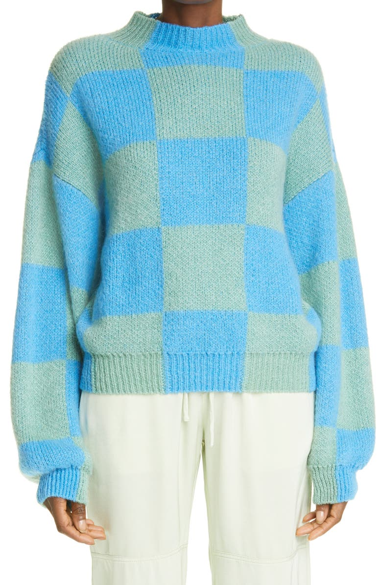 Adonis Checkerboard Balloon Sleeve Sweater by STINE GOYA, available on nordstrom.com Kendall Jenner Top Exact Product