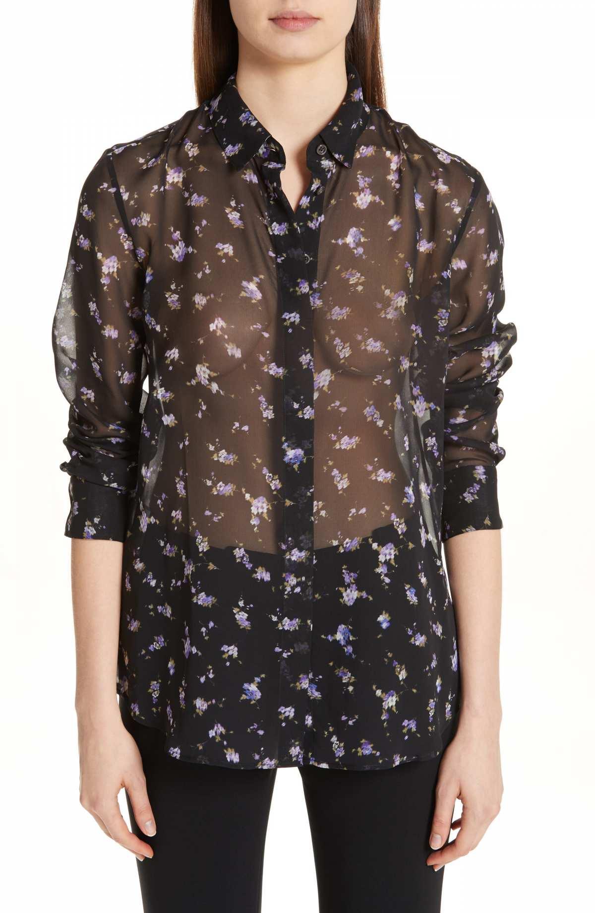 Altuzarra Floral Print Sheer Silk Blouse by ALTUZARRA, available on nordstrom.com for $795 Kendall Jenner Top SIMILAR PRODUCT