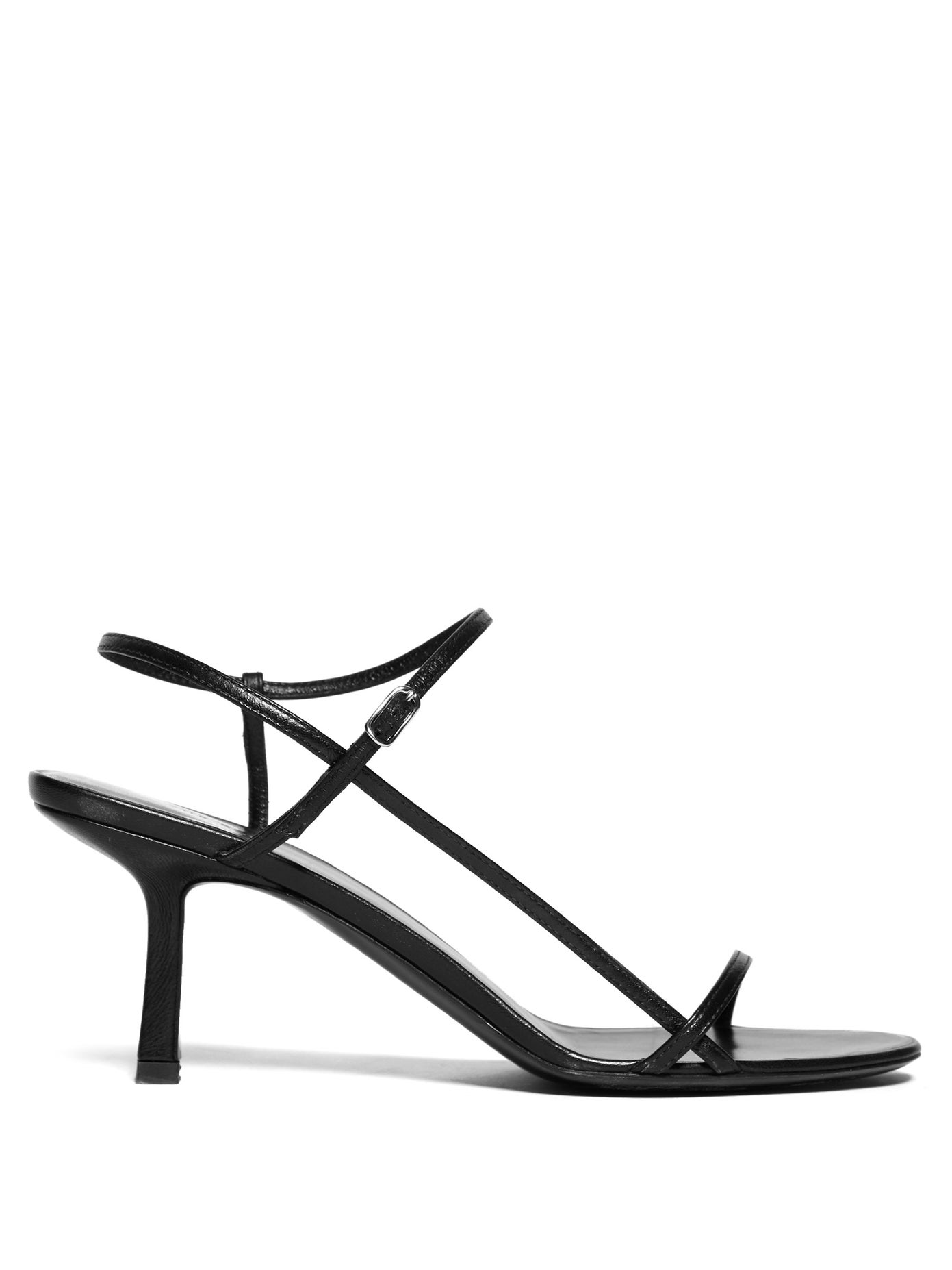 Bare mid-heel leather sandals by The Row, available on matchesfashion.com for $316 Kendall Jenner Shoes Exact Product