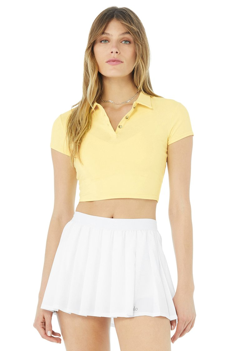 CHOICE POLO by Alo, available on aloyoga.com for $62 Kendall Jenner Top Exact Product