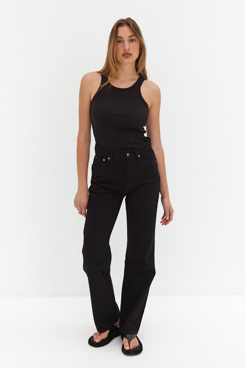 CORE Straight Leg Jeans - Black by Style Addict, available on styleaddict.com.au for $139.35 Kendall Jenner Pants Exact Product
