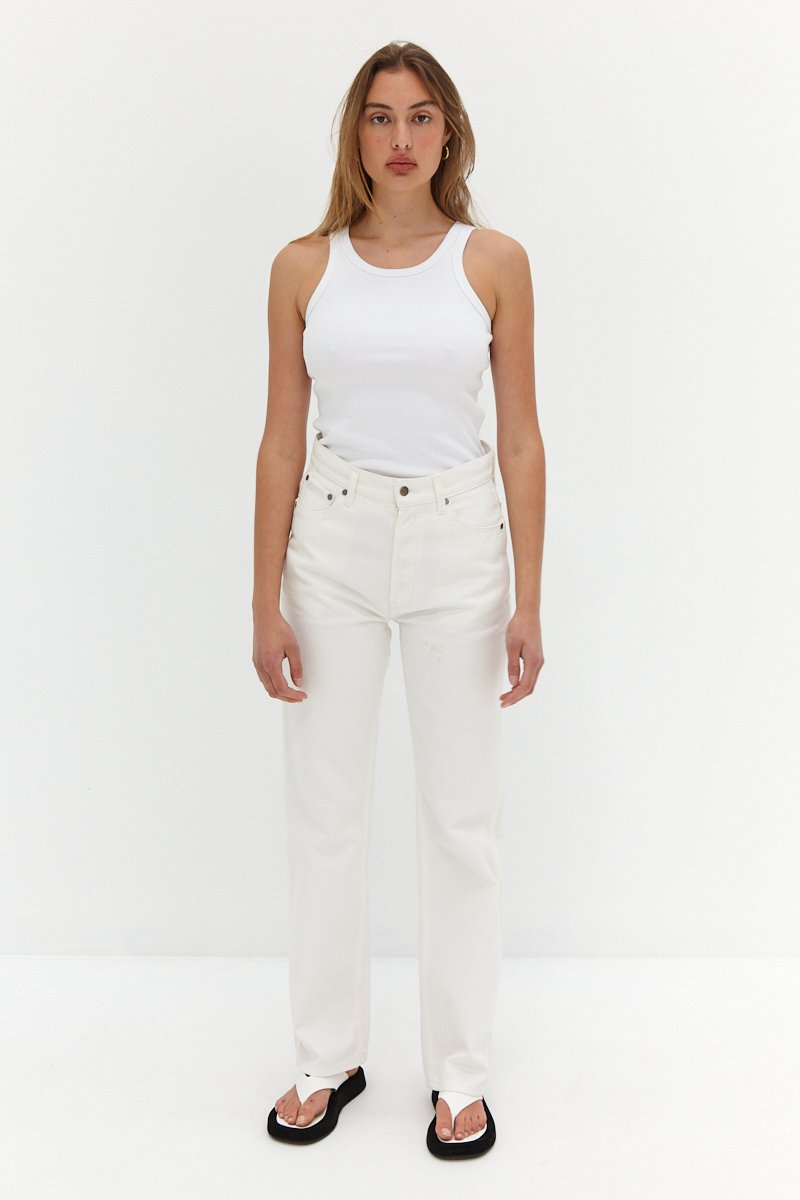 CORE Straight Leg Jeans - White by Style Addict, available on styleaddict.com.au for $140 Kendall Jenner Pants Exact Product