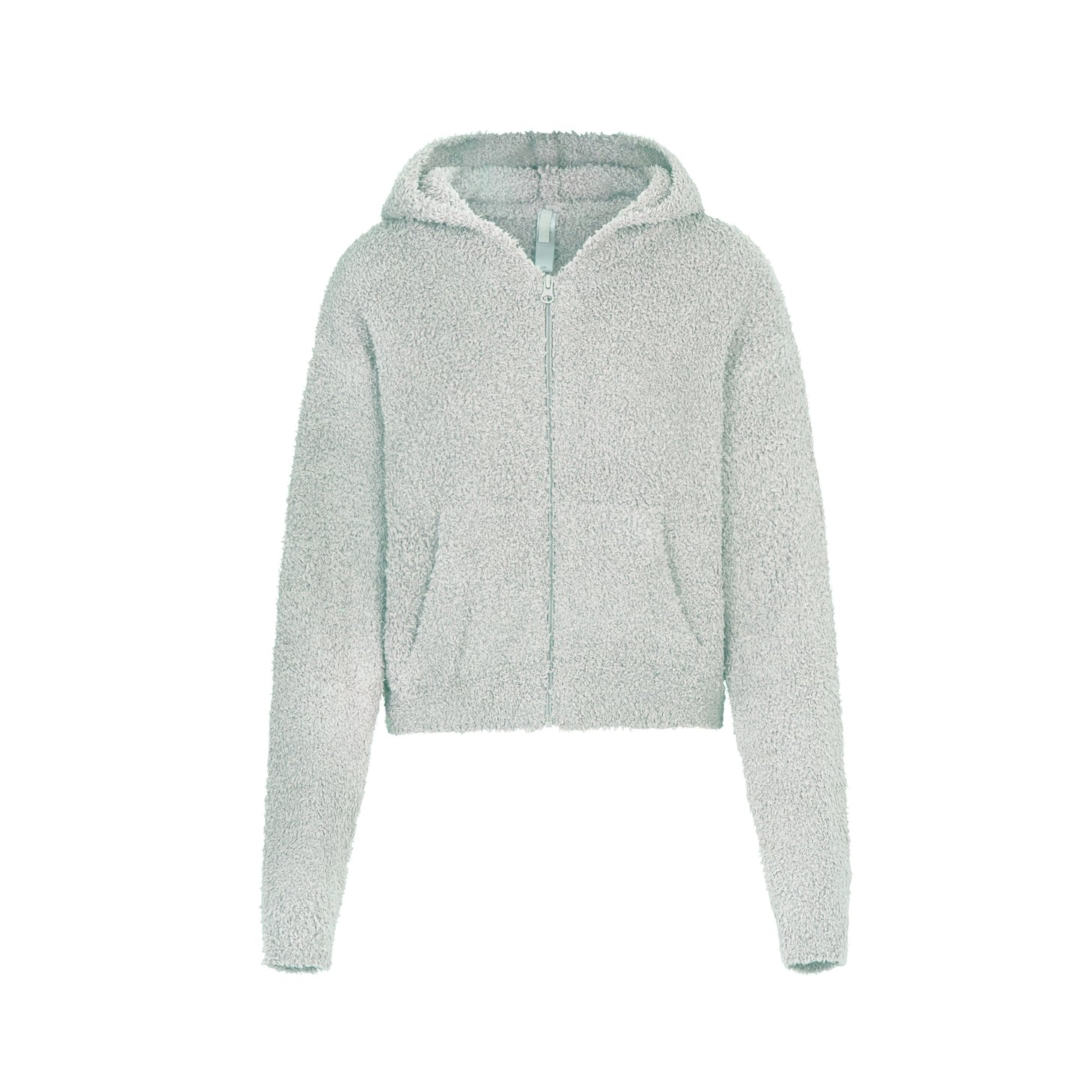 COZY KNIT ZIP UP HOODIE by Skims, available on skims.com for $82 Kendall Jenner Outerwear Exact Product