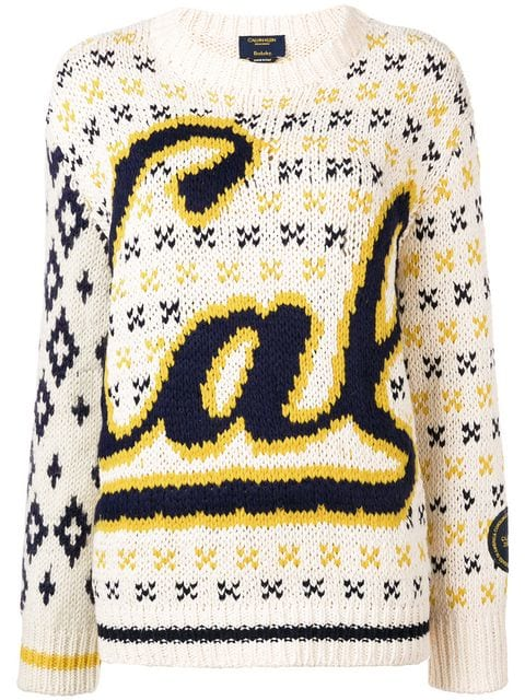Cal intarsia-knit sweater by Calvin Klein, available on farfetch.com for EUR1053 Kendall Jenner Outerwear Exact Product