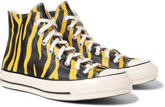 Chuck 70 Zebra-Print Leather High-Top Sneakers by Converse, available on shopstyle.com for $90 Kendall Jenner Shoes Exact Product