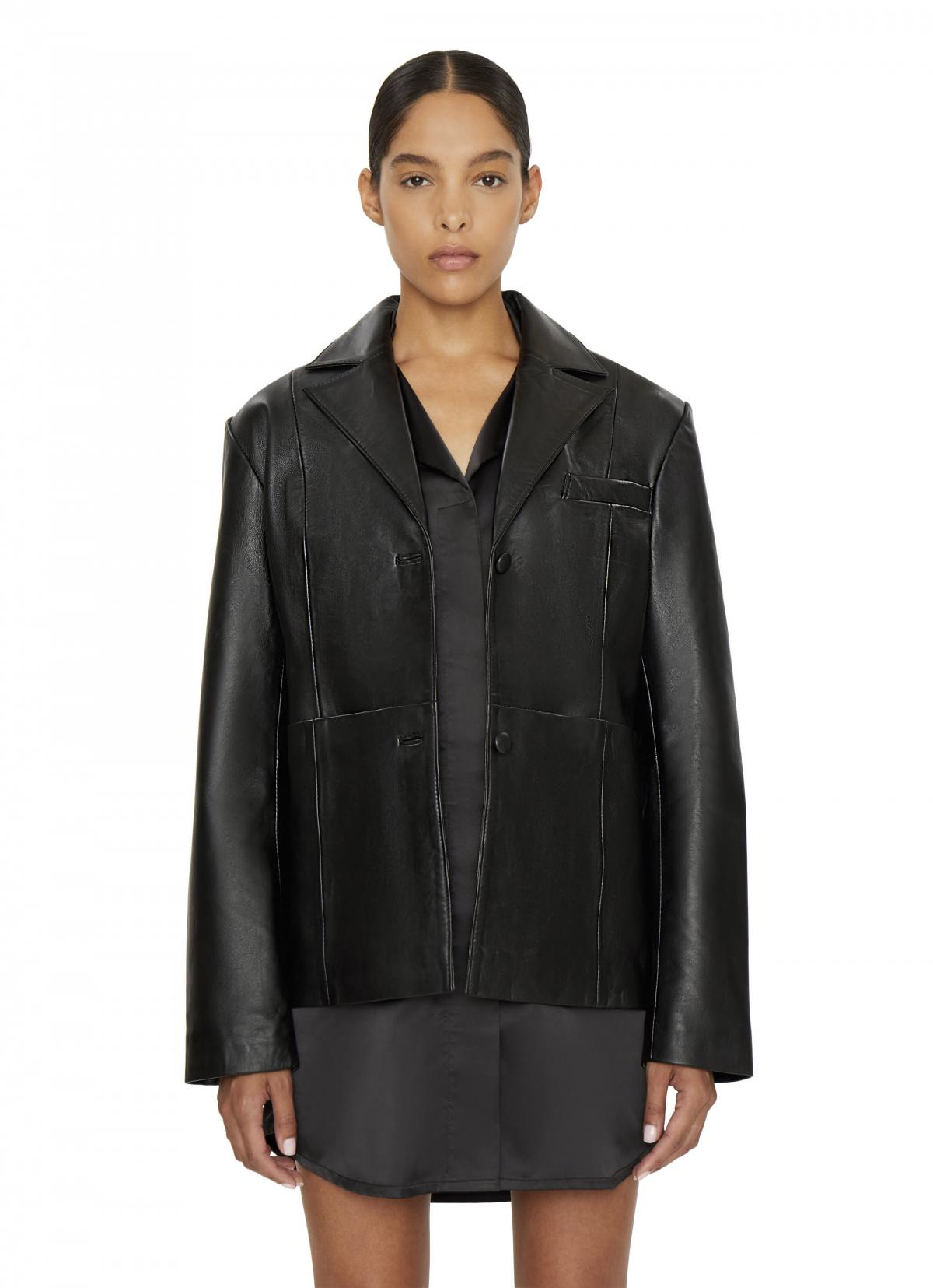 Classic Leather Blazer by Danielle Guizio, available on danielleguiziony.com for $485 Kendall Jenner Outerwear Exact Product