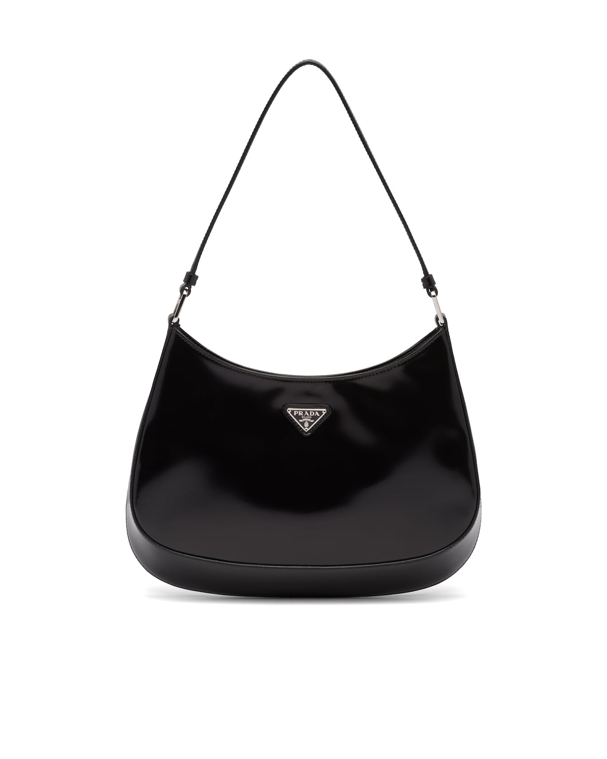 Cleo brushed leather shoulder bag by Prada, available on prada.com for EUR1600 Kendall Jenner Bags Exact Product