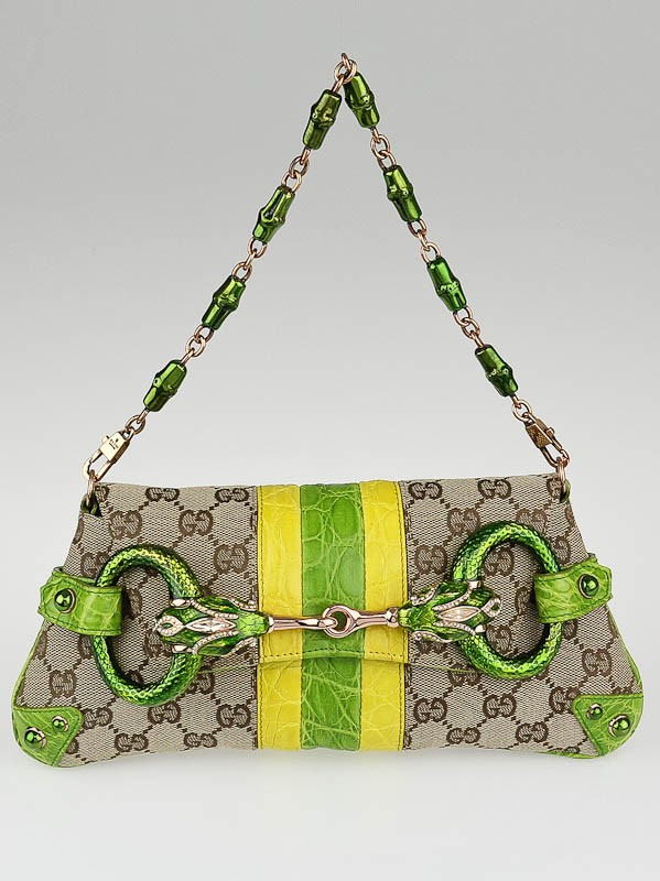 Croc Embossed Gg Clutch by Gucci, available on yoogiscloset.com Kendall Jenner Bags Exact Product