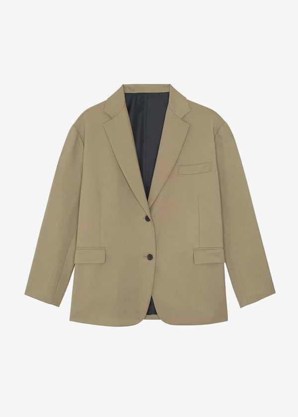 DESERT TAUPE OVERSIZED BOYFRIEND'S BLAZER by The Frankie Shop, available on thefrankieshop.com for $165 Kendall Jenner Outerwear Exact Product